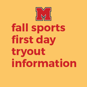 fall sports tryout information