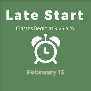Late Start Days 2/13/20 Graphic
