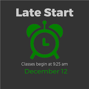 Late Start December 12 Graphic