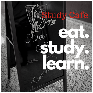 study cafe. eat study learn