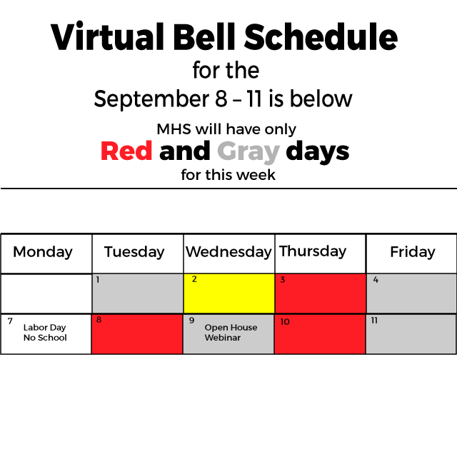 virtual bell schedule graphic