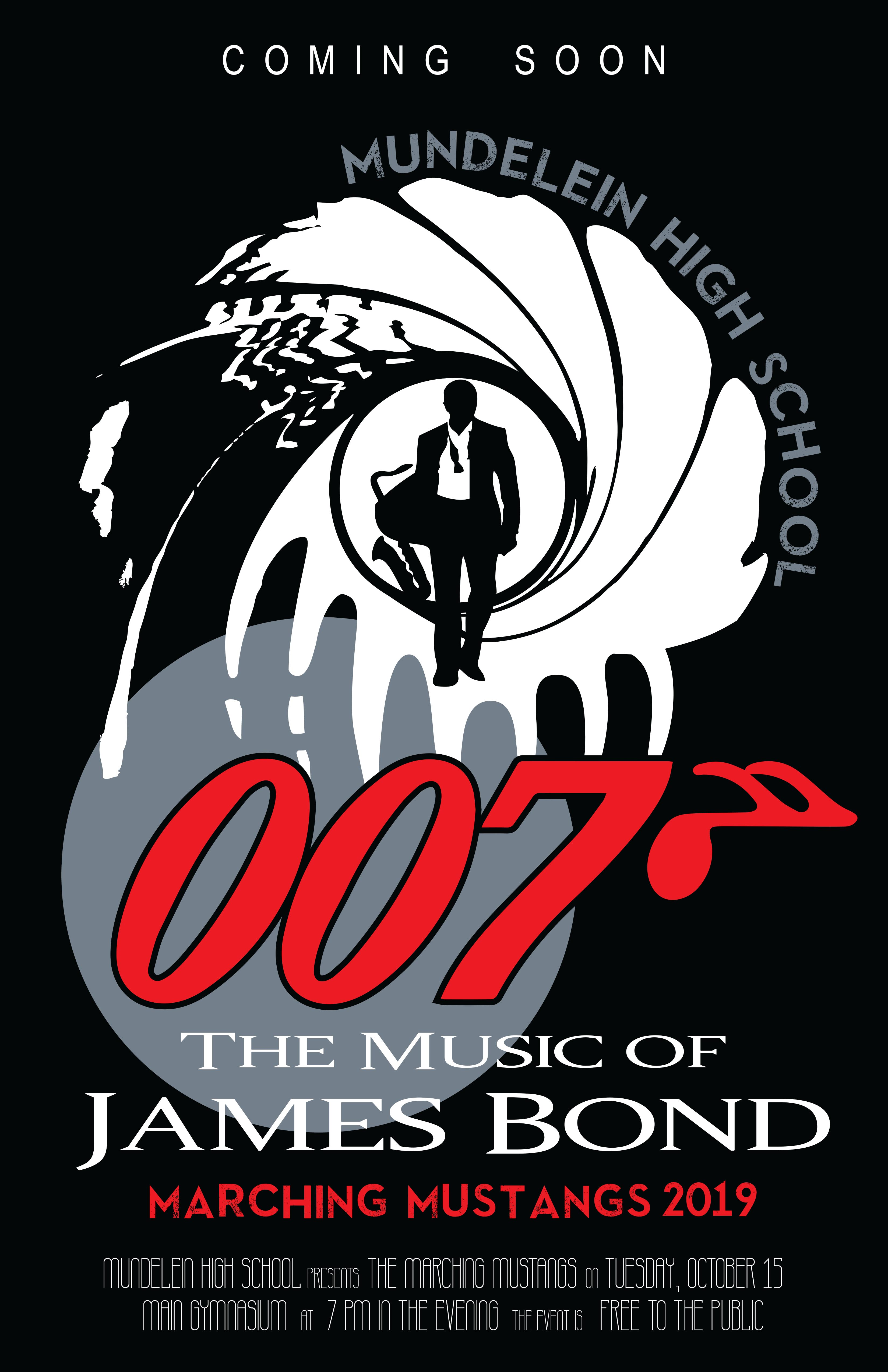 Poster advertising the 007 Theme for the concert