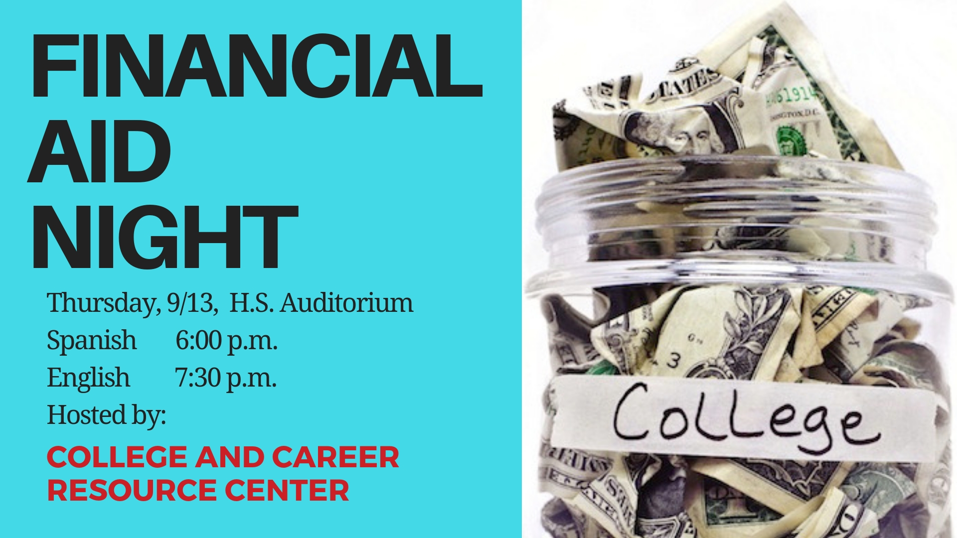 CCRC Financial Aid Night