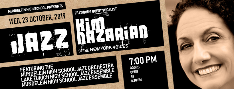 Poster with face of the jazz singer and concert info