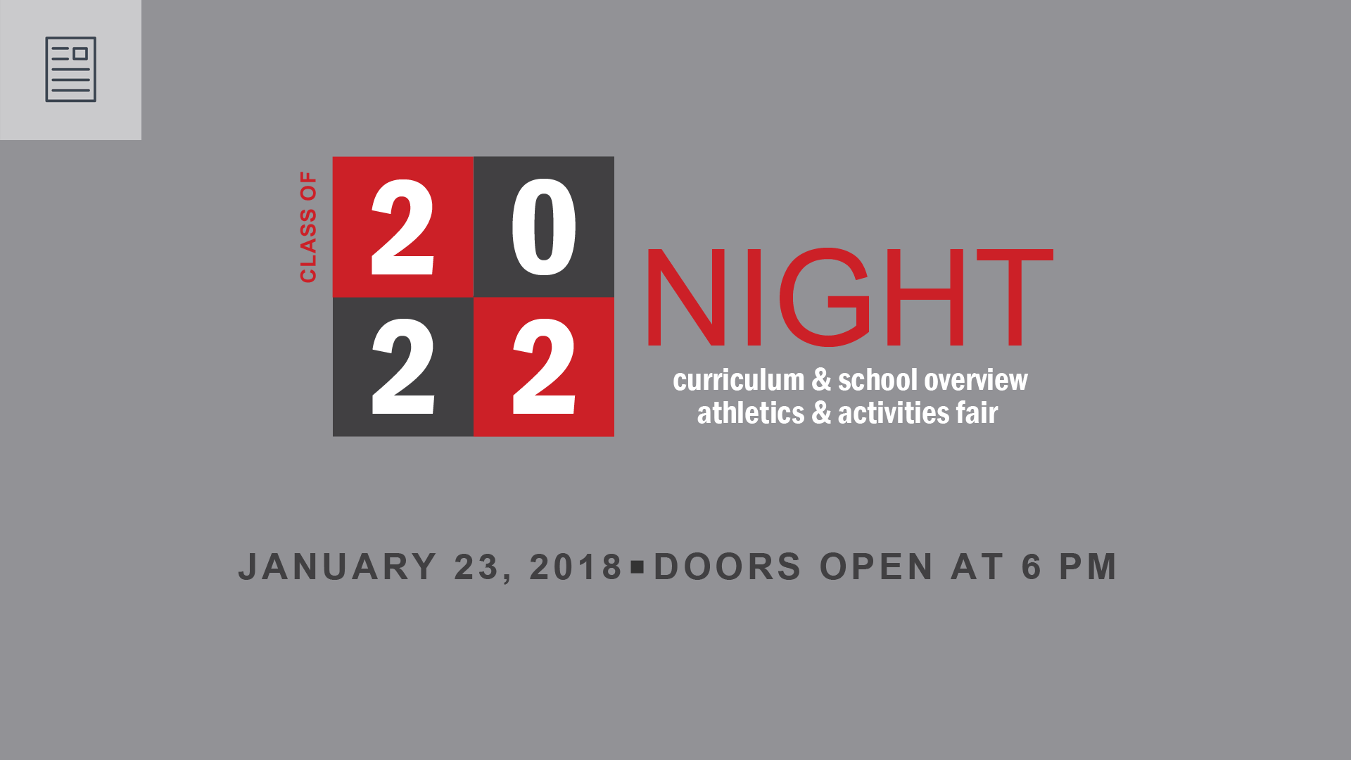 MHS to welcome Class of 2022 students and parents to Curriculum Night and the annual activities and athletics fair.