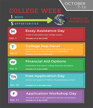 2019 College Week Flyer