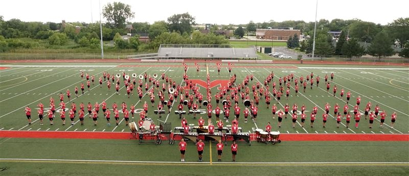 Band on Football Field