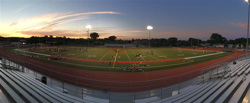 Band  Camp on football field