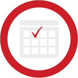athletic activity calendar icon