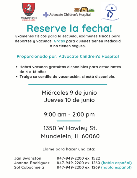2021 MHS ACH Health Fair flyer Spanish
