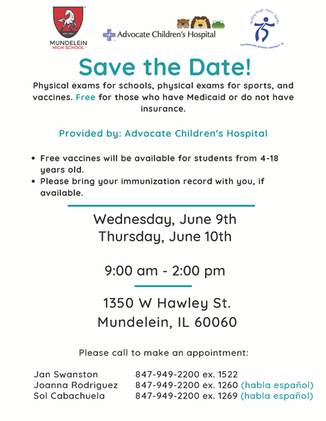 2021 MHS ACH Health Fair flyer English