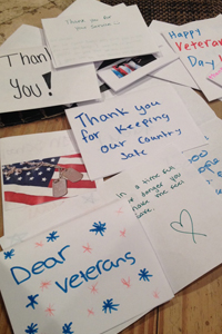 student leadership veterans day cards