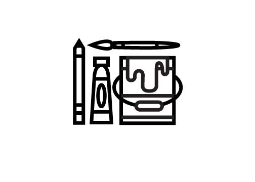 Visual Arts Paint Brush Icon